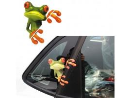 3D наклейка лягушка на автомобиль
