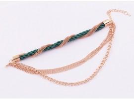 Золотистый многослойный браслет