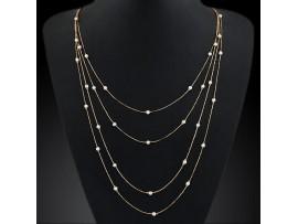 Ожерелье из цепочек с жемчугом