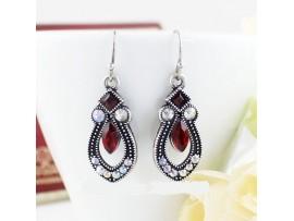 Комплект серьги + ожерелье из горного хрусталя