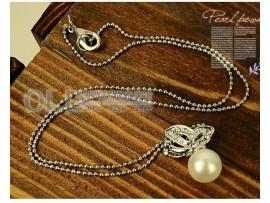 Серьги + ожерелье с бабочкой