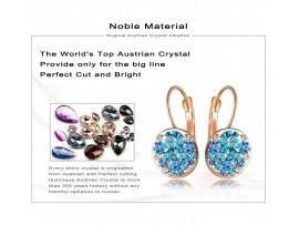 Круглые серьги с кристаллами