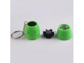 Зеленый брелок фонарик с 6 светодиодами