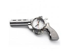 Часы будильник пистолет