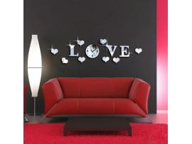 Настенные 3D часы LOVE