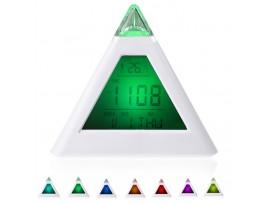Светодиодный будильник ночник пирамида