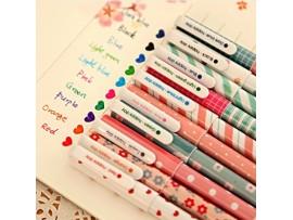 Набор цветных гелевых ручек (10 цветов)