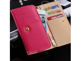 Кожаный чехол-кошелёк для iPhone 4 4S 5S 5 6, Samsung Galaxy S6, Edge S5 S4 S3, HTC M7 M8