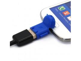 Переходник Micro USB/USB 2.0 в форме робота Android