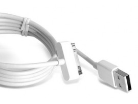 USB кабель iphone 4/4S/5 (белый, 1м)