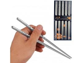 Металлические китайские палочки для еды (5пар)