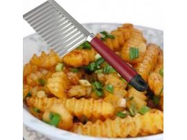 Нож из нержавеющей стали для фигурной резки овощей