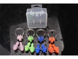 Мягкий силиконовый зажим для носа и затычки для ушей