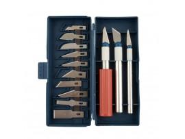 Набор прецизионных ножей с лезвиями в коробке (13шт)