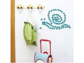 Зеркальные наклейки на стену в форме звёздочек (38шт)