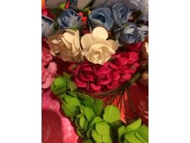 Мини букеты искусственных роз ручной работы (10 букетов)