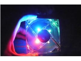 Бесшумный вентилятор для компьютера со светодиодами
