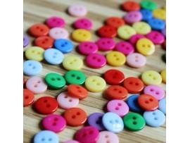 Цветные пуговицы с двумя отверстиями (100шт)