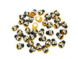 Деревянные разукрашенные пчёлки для скапбукинга (200шт)