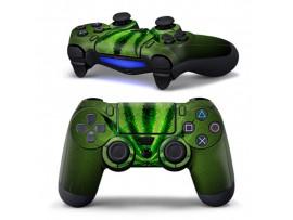 Наклейка Зеленый лист на джойстик PS4