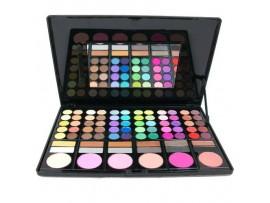 Профессиональные тени для век, косметичка для макияжа с зеркалом (78 цветов)