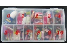 Набор накладных ногтей + клей для ногтей Nail Glue (540шт)