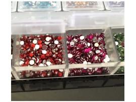 Круглые стразы для ногтей (12 цветов)