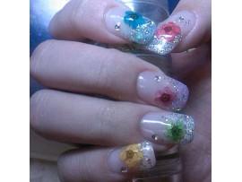 Рисунки на ногтях цветочки (36 шт 12 цветов)
