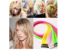 Искусственные волосы на клипсах (12 цветов)