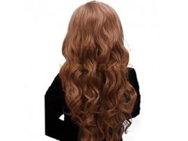 Волнистая искусственная прядь для наращивания волос на клипсах
