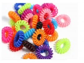 Резинка для волос в виде телефонного шнура (10шт)