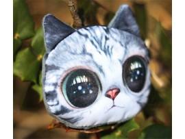 Женский кошелёк на молнии в виде кошачьей головы