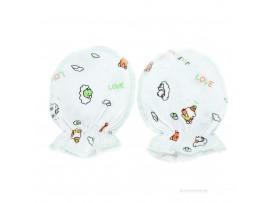 Рукавицы для новорожденных из хлопка