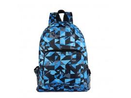 Нейлоновый складной сумка-рюкзак трансформер с двойной молнией