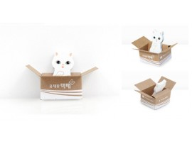 Бумажный котик в коробке + закладка для книг