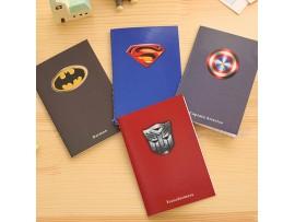 Карманный блокнот с логотипами супергероев
