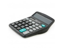 Портативный солнечный/батарейный калькулятор Deli