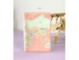 Обложка на загранпаспорт карта мира