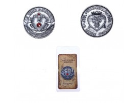 Подарочная монета с надписью Я тебя люблю