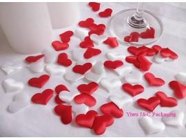1000 сердечек (500 белых + 500 красных)