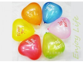 Воздушные шарики в форме сердечек (10шт)