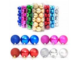 Елочные игрушки шары 4 см (24шт)