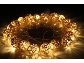 Круглые светящиеся гирлянды на вечеринку или елку