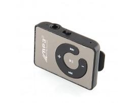 MP3-плеер с зеркальной поверхностью, с зажимом и слотом для TF карты, поддержка до 8 ГБ