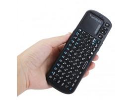 Мини беспроводная клавиатура 2,4 ГГц iPazzport с русскими буквами, со светодиодом
