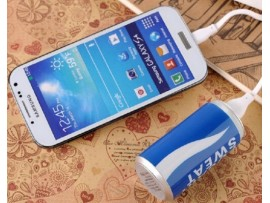 Внешний аккумулятор ёмкостью 2600 мАч для смартфонов в виде банки Колы
