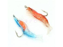 Мягкие силиконовые креветки для рыбалки