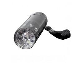 Яркий фонарик с 9 светодиодами