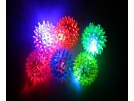 Прыгающая светящаяся пищащая игрушка мячик
